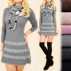A1978 romantikus ruha, tunika az őszi, gyapjú