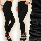 4377 Bamboo Leggings Leggins with Fur, High Waist