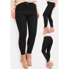 R54 Classic Women Jeans, High Waist, Pants, Black