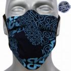 masque de protection, imprimé bleu, sangles, D5808