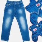 A19170 Pantalons jeans pour filles, 4-12 ans