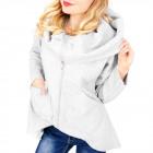 C24221 Warm Sweatshirt, Tunic Oversize Mega Collar