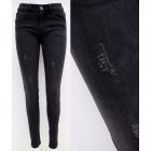 B16801 Women Jeans, Pants,Fashionable Brushes, Bla