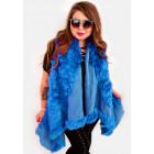 EM16 Fur Women Jacket, Vest, Poncho, Blue