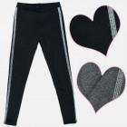 A19143 Leggings, Fur, Glitter Stripe