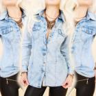 BI575 Fashionable Blouse, Jeans Shirt, Polka Dot P