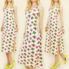 K423 SUMMER LONG DRESS, NEON BUTTERFLIES