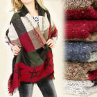 FL346 BIG WINTER WARM FOULARD, GRILLE, noeuds