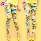 4440 Charming Leggings, Owl and Ombre