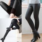 Black Latex Leggings, Warmed, 36-44, B16902