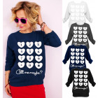 N040 Lovely Women Sweatshirt, Hearts, Call Me
