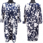 Gemustertes Kleid, große Größen, 56-60L, 5631