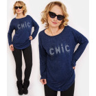 R118 Comfortable Tunic Oversize: Silver Chic