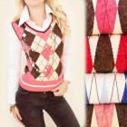 C17205 Elegant Set, Sweater + Shirt, Diamonds