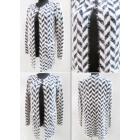 K66 Elegant Cardigan, Sweater, Geometric Pattern