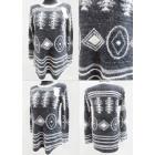 K80 Long Warm Sweater, Tunic, Aztec Pattern