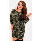 EM06 Plus Size Dress, Kimono, Moro and Sequin, KH