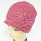 CZ09 Warm Woman Hat, Cap with Flower &Fleece