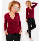 M02 Soft Cardigan with Wool, V-neckline, Everyday
