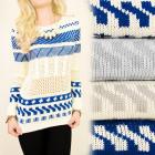 G227 Sweater, Tunic in Patterns, Openwork Inserts