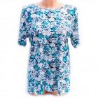 Cotton Women Shirt, M-3XL, Flowers, 5230