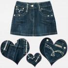 A19153 Denim Skirt For Girls, Jeans, 4-12