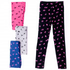 4456 Leggins for Girl 104-152, Swallows Pattern