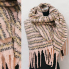 Winter Scarf with Gold Thread, Fluffy, A1851