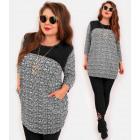 4427 Elegant Plus Size Tunic, Latex Neckline