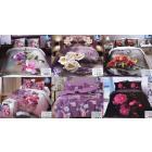 Bedding Set, 160x200, 3 Parts, Flowers, Z137