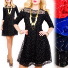 BI641 Wonderful Lace Dress, Gold Sheen