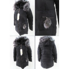 E2 Winter Women's Jacket, Pompon, Plus Size