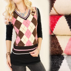 C17207 Fashionable sweater, vest, diamonds, LanaMe