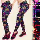 4470 Women Leggins Sport, Fitness, Neon Pattern