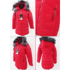 E12 Winter Jacket, Aztec Quilting, Red
