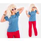 D26123 T-Shirt confortable pour femmes, coupe ampl
