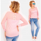 D1474 Romantic Sweater, Bows on the Back