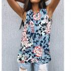 Women Blouse, Summer Top, Flowers L-4XL, 661