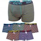 D2688 Cotton Mens Boxer Shorts, L - 3XL, Striped
