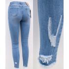 B16815 Women Jeans, Pants, Mega Brushing, Blue