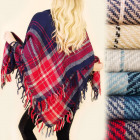 C17330 Extensive, Warm Scarf, Plaid, Poncho
