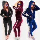 4484 Sporty Women Set, Velor, Fitness Suit