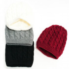 Warm Ladies Hat, 2 layers, Braids Weave, 5087