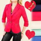 BI314 ELEGANT JACKET, GOLD SLIDERS, CUFFS