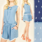 C1765 FASHION SUMMER SET TOP + SHORTS, LACE