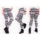 4240 Soft, Patterned Leggings, Magic Gray