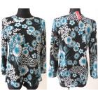 Patterned Blouse Plus Size L-4XL 5648