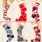 4201 Fur Long Socks, Slippers, Various Patterns