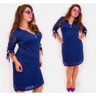 BI781 Lace Dress in Autumn Colors