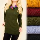 G233 Warm Sweater, Tunic, Pattern in Braids